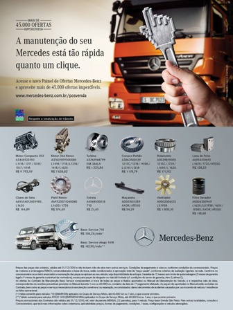 45 mil pe as genu nas em promo o no painel de ofertas for Ao service on mercedes benz